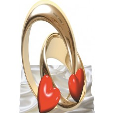 3D картинки.Два кольца и Сердце.